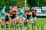 Danny Sheehan Legion drives out with the ball ahead of StacksJoseph O'Connor, Michael O'Gara and Kieran Donaghy during their Snr Club Championship clash in Killarney on Saturday