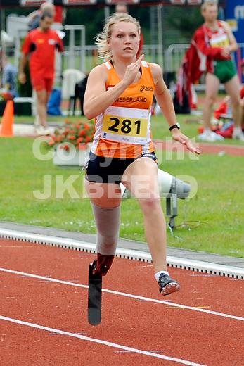 STADSKANAAL - Atletiek, European Championships IPC Atletics, Pagedal, 26-06-2012, Iris Pruysen
