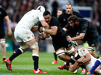 Photo: Richard Lane/Richard Lane Photography. England v New Zealand. QBE Autumn International. 08/11/2014. New Zealand's Jerome Kaino attacks.