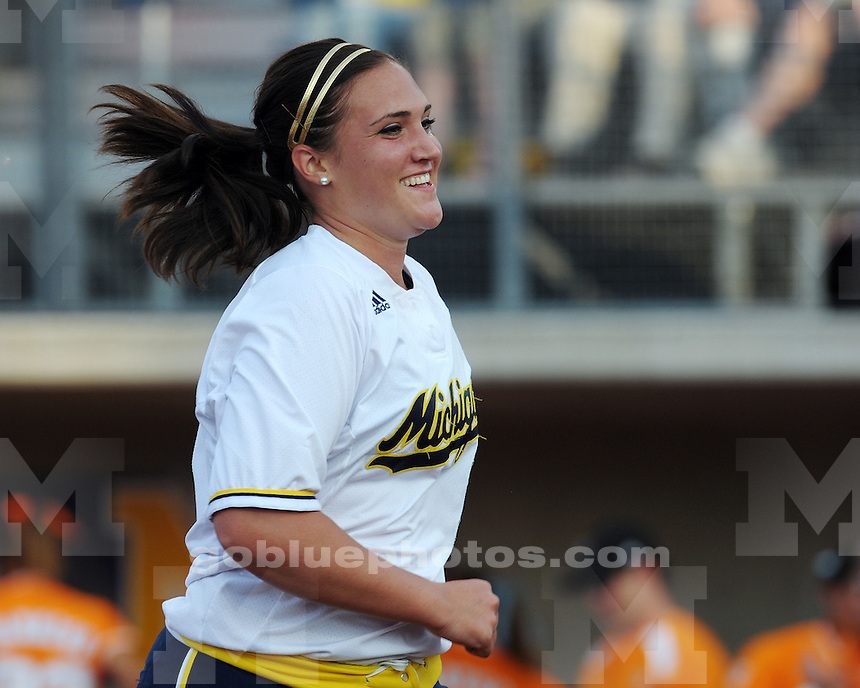 The University of Michigan softball team falls to Tennessee 5-0 in the first game of the Ann Arbor Super Regional at the Wilpon Softball Complex (Alumni Field) on Thursday, May 27, 2010 in Ann Arbor, MI.