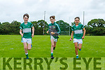 Listry footballers who are happy to be back training again front row l-r: HArry Murphy, MJ Leslie,Cillian O'Donoghue, BR Killian Fitzgerald, Fergal Murphy and Danny Murphy