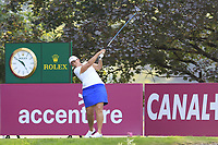 Angela Stanford (USA) tees off the 13th tee during Friday's Round 2 of The Evian Championship 2018, held at the Evian Resort Golf Club, Evian-les-Bains, France. 14th September 2018.<br /> Picture: Eoin Clarke | Golffile<br /> <br /> <br /> All photos usage must carry mandatory copyright credit (&copy; Golffile | Eoin Clarke)