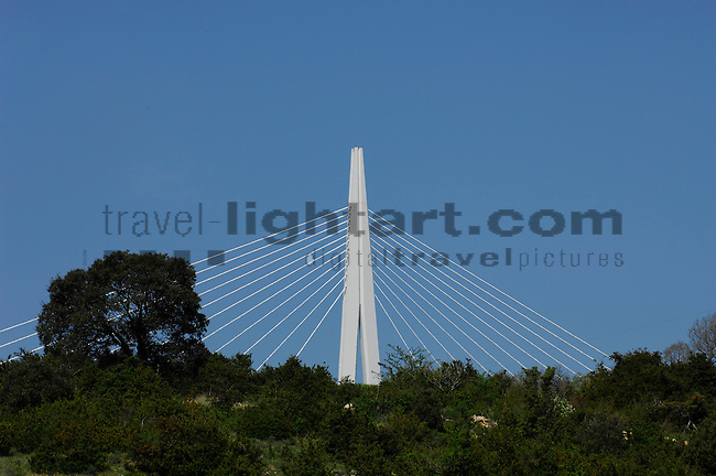 Highway-Bridge, A75, Millau, Aveyron, France. This is the highest bridge in the world.