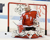 Bryce Merriam (RPI - 32) - The visiting Rensselaer Polytechnic Institute Engineers tied their host, the Northeastern University Huskies, 2-2 (OT) on Friday, October 15, 2010, at Matthews Arena in Boston, MA.