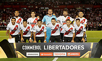"BUENOS AIRES - ARGENTINA - 05 - 04 - 2018: Los jugadores de River Plate, posan para una foto, durante partido de la fase de grupos, grupo D, fecha 2, entre River Plate (ARG) y el Independiente Santa Fe, por la Copa Conmebol Libertadores 2018, en el estadio Antonio Vespucio Liberti ""Monumental de River"", de la ciudad Ciudad Autónoma de Buenos Aires. / The players of River Plate, pose for a photo, during a match of the groups phase, group D, 2nd date, beween River Plate (ARG) and Independiente Santa Fe, for the Conmebol Libertadores Cup 2018, at the Antonio Vespucio Liberti ""Monumental de River"", in Ciudad Autónoma de Buenos Aires.  Photo: VizzorImage / Javier Garcia Martino / Photogamma / Cont."