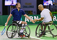 Rotterdam, The Netherlands, 14 Februari 2019, ABNAMRO World Tennis Tournament, Ahoy, Wheelchair, doubles, Stefan Olsson (SWE) Joachim Gerard (BEL) (L),<br /> Photo: www.tennisimages.com/Henk Koster
