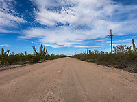 Tour of the Sonora dirt road. semi cloudy sky landscapes.<br /> Recorrido por la carretera de terraceria de Sonora. piasajes de cielo semi nublado.<br /> (Photo: Luis Gutierrez / NortePhoto.com)