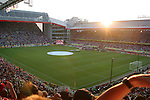 17 June 2006: The sun sets over this wide shot of the stadium during player player introductions. Italy played the United States at Fritz-Walter Stadion in Kaiserslautern, Germany in match 25, a Group E first round game, of the 2006 FIFA World Cup.