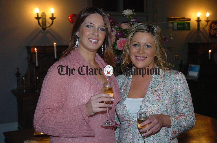 Sofia Small and Aideen Raftery of Galway were at the Brown Thomas Fashion show in aid of Cahercalla Hospice at Dromoland. Photograph by John Kelly.