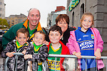 The Home Coming - Waiting at Tralee Railway Station for the arrival of the Senior and minor Kerry Teams on Monday were l-r Laurence Cotter, Oisín Cotter, Fionn Cotter, Shane Cotter, Sharon Cotter and Lauren Cotter.