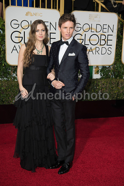 """Nominated for BEST PERFORMANCE BY AN ACTOR IN A MOTION PICTURE – DRAMA for his role in """"The Danish Girl,"""" actor Eddie Redmayne attends the 73rd Annual Golden Globes Awards at the Beverly Hilton in Beverly Hills, CA on Sunday, January 10, 2016. Photo Credit: HFPA/AdMedia"""