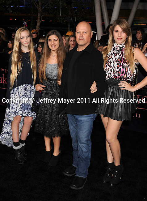 "LOS ANGELES, CA - NOVEMBER 14: Michael Chiklis arrives at the Los Angeles premiere of ""The Twilight Saga: Breaking Dawn Part 1"" held at Nokia Theatre L.A. Live on November 14, 2011 in Los Angeles, California."
