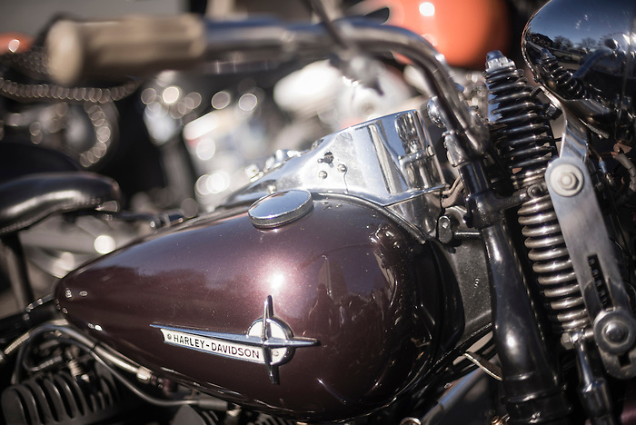 Harley Davidson at The Classic Car Boot Sale, South Bank, London, England, United Kingdom, Europe