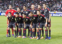 CARSON, CA - March 25, 2012: Mexico starting line up for the Mexico vs Panama match at the Home Depot Center in Carson, California. Final score Mexico 1, Panama 0.