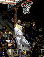 Richard Solomon of California shoots the ball during the game against Coppin State at Haas Pavilion in Berkeley, California on November 8th, 2013.    California defeated Coppin State, 83-64.