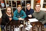 Enjoying the School of Music Evita fundraiser Table Quiz in the Brogue on Friday were Caitríona Fitzmaurice, Ian Dillane, Alan McLoughlin and Sean Atkinson