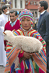 Child With Lamb In Festival