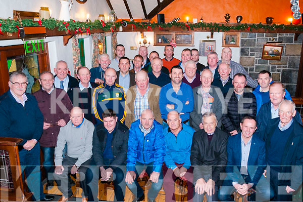 25th Celebration: Members of the Ballydonoghue Senior GAA team that won the North Kerry Championship in 1992 celebrating their 25th anniversary at the Thatch Bar, Liselton on Friday night last.