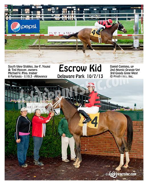 Escrow Kid winning at Delaware Park on 10/7/13