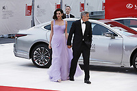 VENICE, ITALY - September 2nd: George Clooney and Amal Clooney attend the red carpet during 74th Venice Film Festival at Palazzo Del Cinema on September 2nd,, 2017 in Venice, Italy. (Mark Cape/insidefoto)