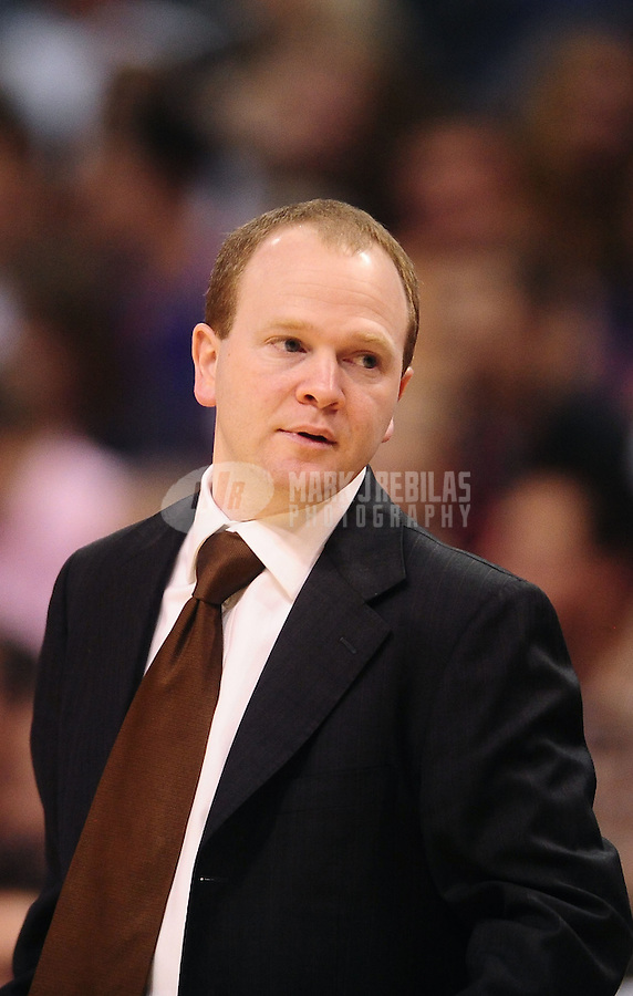 Jan. 28, 2011; Phoenix, AZ, USA; Boston Celtics assistant coach Lawrence Frank against the Phoenix Suns at the US Airways Center. Mandatory Credit: Mark J. Rebilas-