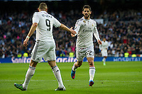Real Madrid´s  and Deportivo de la Coruna's  during 2014-15 La Liga match between Real Madrid and Deportivo de la Coruna at Santiago Bernabeu stadium in Madrid, Spain. February 14, 2015. (ALTERPHOTOS/Luis Fernandez) /NORTEphoto.com