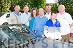 SUMMER RUN: Enjoying a great time at the Kingdom Veteran Vintage & Classic Car Club Summer Run at O'Donnell's restaurant and bar, Tralee on Friday l-r: Francie Cantillon, Garry O'Donnell, Sophie Moriarty, John Rice, F.J. Gleasure, Ross Gleasure and P.J. O'Riordan.