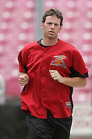 July 8 2009: Jeremy Toole of the Salem-Kaizer Volcanoes before game against the Tri City Dust Devils at Volcano  Stadium in Kaizer,OR.  Photo by Larry Goren/Four Seam Images