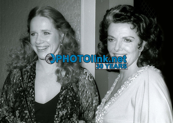 Liv Ullman and Jane Russell 1980<br /> Photo By John Barrett/PHOTOlink