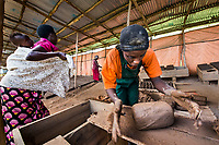 Rwanda has been struggling to heal since its horrific genocide. When women find work out of the home they have the added burden of having to find a way to also care for their children. These women earn a penny a brick for each one they make in this brick factory.