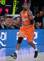 Valencia Basket Club's Thomas Kelati during Spanish Basketball King's Cup semifinal match.February 07,2013. (ALTERPHOTOS/Acero) /NortePhoto