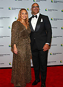 "Christopher Jackson, who was nominated for a Tony Award for originating the role of George Washington in ""Hamilton,"" arrives with his wife, Veronica Jackson for the formal Artist's Dinner honoring the recipients of the 41st Annual Kennedy Center Honors hosted by United States Deputy Secretary of State John J. Sullivan at the US Department of State in Washington, D.C. on Saturday, December 1, 2018. The 2018 honorees are: singer and actress Cher; composer and pianist Philip Glass; Country music entertainer Reba McEntire; and jazz saxophonist and composer Wayne Shorter. This year, the co-creators of Hamilton, writer and actor Lin-Manuel Miranda, director Thomas Kail, choreographer Andy Blankenbuehler, and music director Alex Lacamoire will receive a unique Kennedy Center Honors as trailblazing creators of a transformative work that defies category.<br /> Credit: Ron Sachs / Pool via CNP"