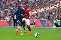 Manchester United's Ashley Young is fouled by Chelsea's Victor Moses <br /> <br /> Photographer Craig Mercer/CameraSport<br /> <br /> Emirates FA Cup Final - Chelsea v Manchester United - Saturday 19th May 2018 - Wembley Stadium - London<br />  <br /> World Copyright &copy; 2018 CameraSport. All rights reserved. 43 Linden Ave. Countesthorpe. Leicester. England. LE8 5PG - Tel: +44 (0) 116 277 4147 - admin@camerasport.com - www.camerasport.com