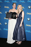 BEVERLY HILLS, CA - FEBRUARY 3: Greta Gerwig and Saoirse Ronan   in the press room at the 70th Annual Directors Guild of America Awards (DGA, DGAs),  at The Beverly Hilton Hotel in Beverly Hills, California on February 3, 2018.  <br /> CAP/MPI/FS<br /> &copy;FS/Capital Pictures
