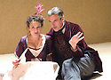 The Crimson Hotel by Michael Frayn, part of a triple bill of Absurdia Comedies  .Directed by Douglas Hodge. With Peter Capaldi as Pilou,Lyndsey Marshal as Lucienne.  Opens at the Donmar Warehouse Theatre on 31/7/07CREDIT Geraint Lewis