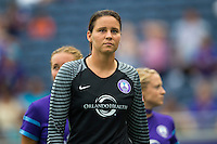 Orlando, FL - Sunday July 10, 2016: Megan Dorsey prior to a regular season National Women's Soccer League (NWSL) match between the Orlando Pride and the Boston Breakers at Camping World Stadium.