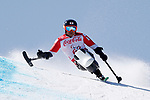 Taiki Morii (JPN), <br /> MARCH 11, 2018 - Alpine Skiing : <br /> Men's Super G Sitting <br /> at Jeongseon Alpine Centre  <br /> during the PyeongChang 2018 Paralympics Winter Games in Pyeongchang, South Korea. <br /> (Photo by Yusuke Nakanishi/AFLO)