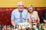 Denis Slattery from Doon Tralee celebrating his 80th birthday with his wife Margaret in the Brogue Inn on Saturday