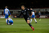 6th February 2019, Dens Park, Dundee, Scotland; Ladbrokes Premiership football, Dundee versus Kilmarnock; Andrew Nelson of Dundee celebrates after scoring for 2-1 in the 20th minute