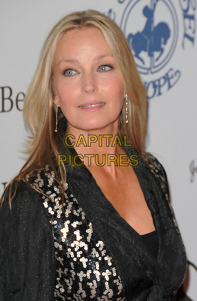 BO DEREK .attends The 30th Anniversary Carousel of Hope Ball Presented by Mercedes-Benz held at The Beverly Hilton Hotel in Beverly Hills, California, USA,.October 25th 2008..half length black  jacket suit silver print .CAP/DVS.©Debbie VanStory/Capital Pictures