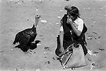 Indigenous indian woman with turkey, San Cristóbal de las Casas. 1973.