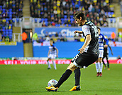 30th September 2017, Madejski Stadium, Reading, England; EFL Championship football, Reading versus Norwich City; Timm Klose of Norwich City clears the ball downfield