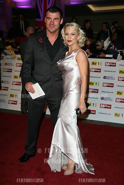 Joe Calzaghe and Kristina Rihanoff  arriving for the 2010 Pride Of Britain Awards, at the Grosvenor House Hotel, London. 08/11/2010  Picture by: Alexandra Glen / Featureflash
