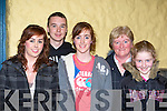 Nora Murphy, Timmy Collins, Kate Murphy, Nora McSweeney and Niamh McSweeney Kilcummin enjoying the Padraig O'Keeffe traditional concert in the Ivyleaf theatre, Castleisland   Copyright Kerry's Eye 2008