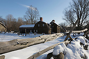 Minute Man National Historical Park - Hartwell Tavern, which is a restored 18th century tavern along the Battle Road Trail during the winter months. Located in Lincoln, Massachusetts USA