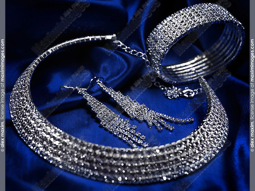 Swarovski crystal jewellery still life