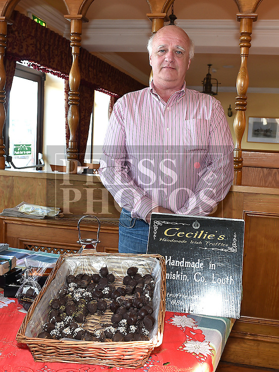 Gerard Bloomfield drom Cecilie's Handmade irish Truffles at the Taste of Togher food festival at Linnduchaill resturant in the Glyde inn Annagassan. Photo:Colin Bell/pressphotos.ie