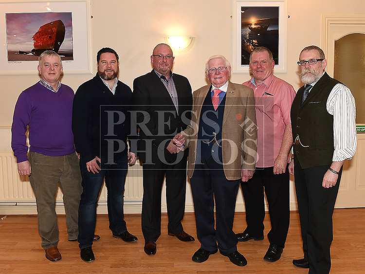 Syd Kierans celebrating his 80th birthday in The Glenside Hotel with his sons Paul, Noel, David, Jimmy and Martin. Photo:Colin Bell/pressphotos.ie