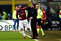 Gonzalo Higuain of AC Milan celebrates with Gennaro Gattuso after scoring a goal during the Serie A 2018/2019 football match between AC Milan and SPAL at stadio Giuseppe Meazza in San Siro, Milano, December 29, 2018 <br /> Foto Image Sport / Insidefoto