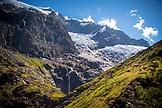 NEW ZEALAND, Wanaka, Waterfall from Rob Roy Glacier, Ben M Thomas